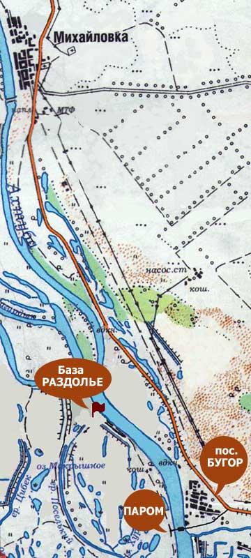 карта реки волга рыболовная база