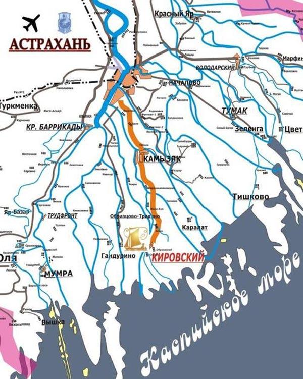 астрахань раскаты рыбалка на карте