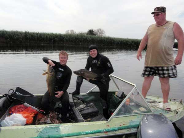 подводная охота и рыбалка на волге